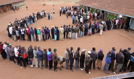kenyans in line for a set top box at the last minute