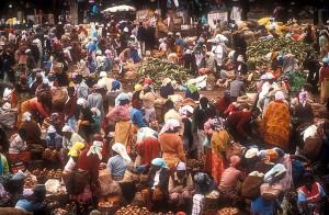 busy Kenyans.