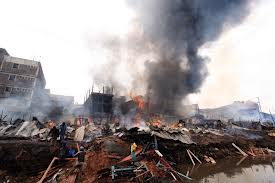 Gikomba has been beset by woes of late such as this fire of last week